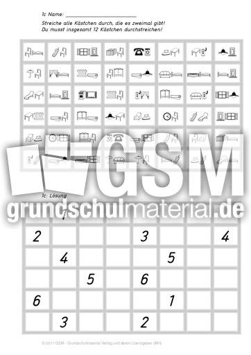 Gegenstu00e4nde_4c - Doppelgu00e4nger gesucht - Konzentration und ...