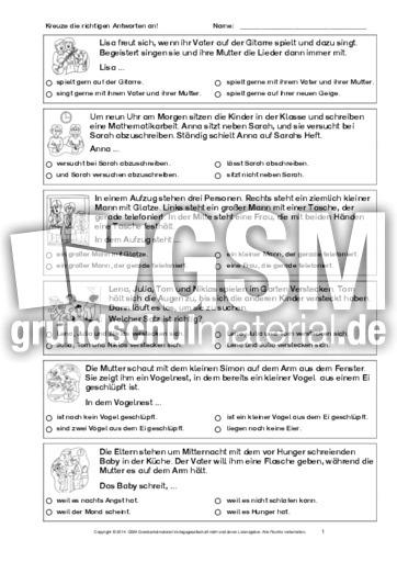 Textverständnis-Training-1-6 - Arbeitsblätter-Lesetraining ...