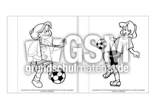 minibuchausmalbilderfußballb14  fußballlapbook