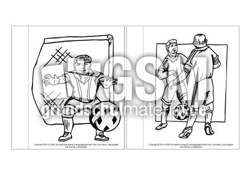minibuchausmalbilderfußballc14  fußballlapbook