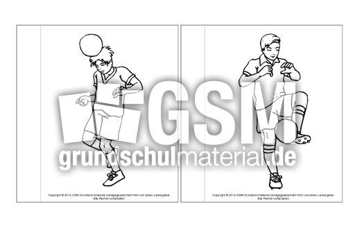 minibuchausmalbilderfußballd14  fußballlapbook