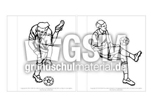 minibuchausmalbilderfußballf14  fußballlapbook