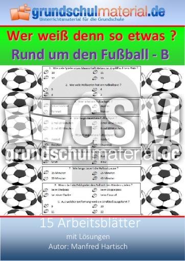 Rund Um Den Fussball B Fussball Quiz Fussball Material