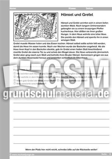 Berühmt Märchen 01 - Hänsel und Gretel - Arbeit mit Märchen - Märchen #PT_22