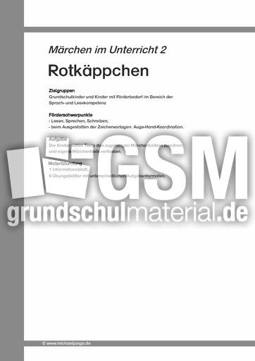 Märchen 02 - Rotkäppchen - Arbeit mit Märchen - Märchen - Sagen ...