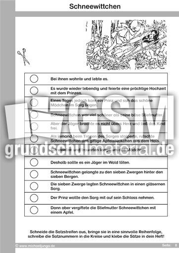 Märchen 09 - Schneewittchen - Arbeit mit Märchen - Märchen - Sagen ...