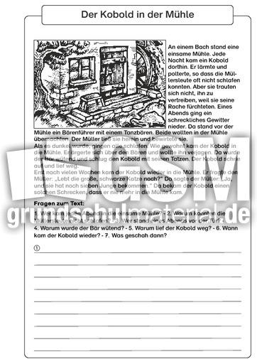 Der Kobold in der Mühle - Sagen im Unterricht - Märchen - Sagen ...