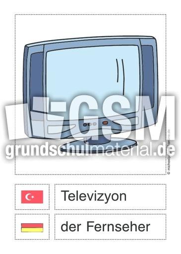 Wortfeld Im Wohnzimmer T D D Turkisch Material