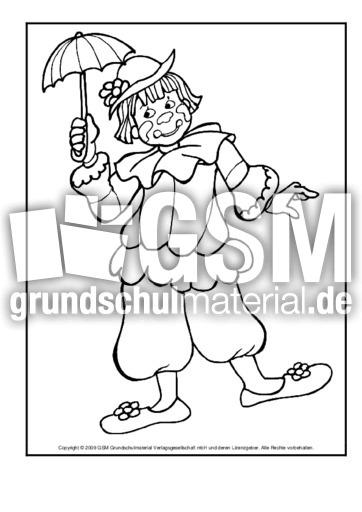 Ausmalbild Clown 7 Ausmalbilder Zirkus Werkstatt Zirkus