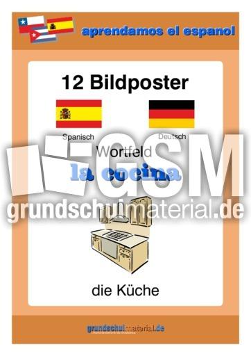 Bildposter Küche-cocina - Bildposter - Material Spanisch für ...