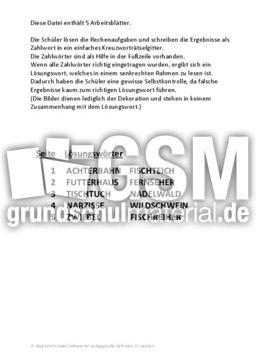 Addition ZR 10 - Addition im Zahlenraum bis 10 - Arbeitsblätter ...