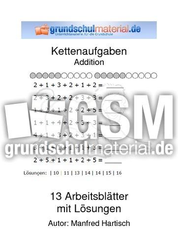Addition - Kettenaufgaben - Kopfrechnen - Arbeitsblätter - Mathe ...
