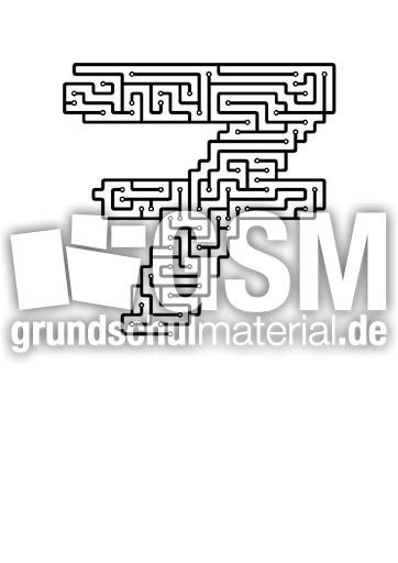 7 - Labyrinth als Zahlen - Labyrinthe - Arbeitsblätter - Mathe ...