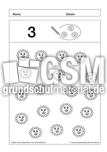 kreise ein 3 ab mengen einkreisen mengen erfassen arbeitsbl tter mathe klasse 1. Black Bedroom Furniture Sets. Home Design Ideas