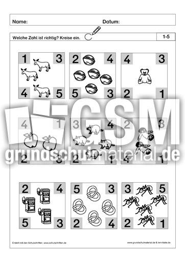 richtige zahl einkreisen 1 pdf ab mengen mengen erfassen arbeitsbl tter mathe klasse 1. Black Bedroom Furniture Sets. Home Design Ideas