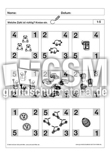 richtige zahl einkreisen 2 pdf ab mengen mengen erfassen arbeitsbl tter mathe klasse 1. Black Bedroom Furniture Sets. Home Design Ideas