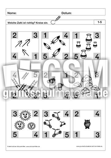 richtige zahl einkreisen 3 pdf ab mengen mengen erfassen arbeitsbl tter mathe klasse 1. Black Bedroom Furniture Sets. Home Design Ideas