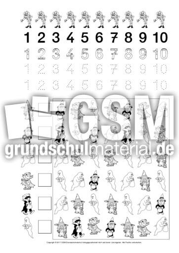 Lernheft-Mengen-und-Zahlen-Halloween - Mengen-Lernhefte - Mengen ...