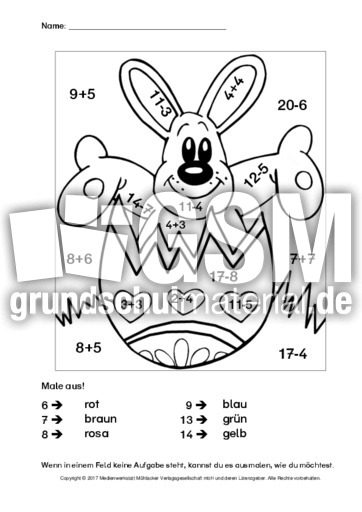 Ostern-Rechnen-und-Malen-2 - Ostern-Rechnen und malen ...