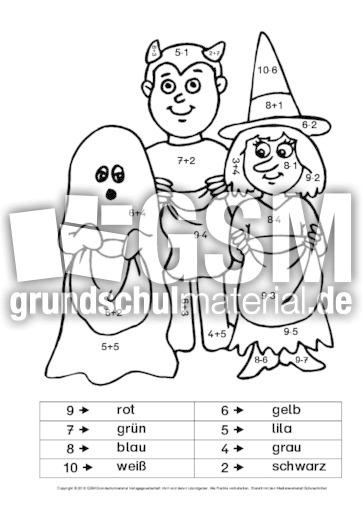 Ziemlich Halloween Arbeitsblätter 1. Klasse Bilder - Ideen färben ...