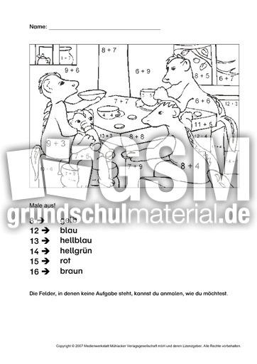 rechnen und malen 2 rechnen und malen arbeitsbl tter mathe klasse 1. Black Bedroom Furniture Sets. Home Design Ideas