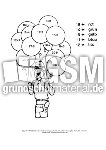 rechnenundmalenzirkus2 rechnen und malen