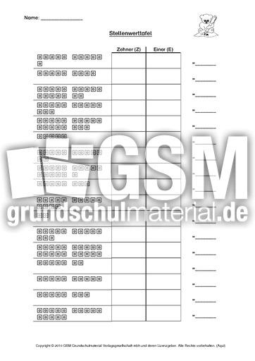 Fantastisch Zehner Und Arbeitsblätter Grad 2 Galerie ...