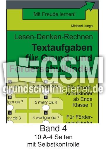 Textaufgaben Band 4 - Textaufgaben - Arbeitsblätter - Mathe Klasse 1 ...