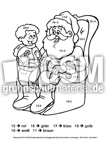 weihnachten rechnen und malen 2 kl 1 weihnachtsrechnen arbeitsbl tter mathe klasse 1. Black Bedroom Furniture Sets. Home Design Ideas