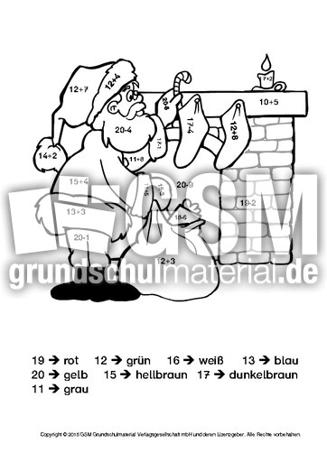 weihnachten rechnen und malen 4 kl 1 weihnachtsrechnen arbeitsbl tter mathe klasse 1. Black Bedroom Furniture Sets. Home Design Ideas
