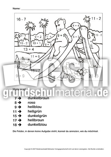 rechnen und malen 12 rechnen und malen arbeitsbl tter mathe klasse 1. Black Bedroom Furniture Sets. Home Design Ideas