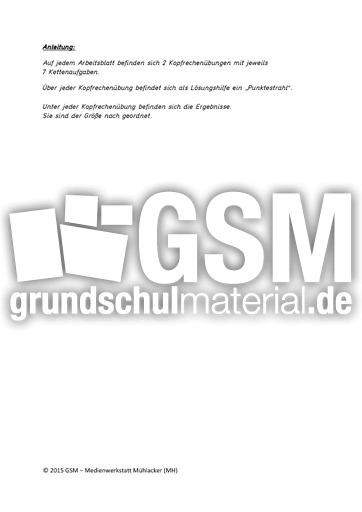 Addition - Subtraktion_1 - Kettenaufgaben - Kopfrechnen - Arbeitsblu00e4tter - Mathe Klasse 1 ...