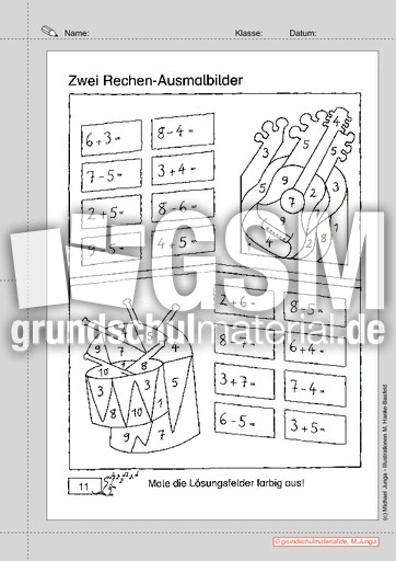 arbeitsblatt vorschule 187 rechen252bungen 1 klasse