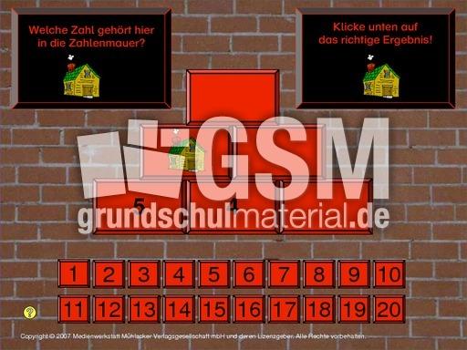 Zahlenmauer Zr 20 1 Zahlenmauern Computerübungen Interaktiv