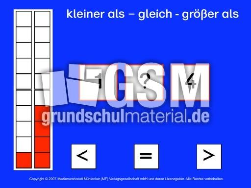 kleiner-groesser-gleich_1a - kleiner gru00f6u00dfer gleich - Computeru00fcbungen-interaktiv - Mathe Klasse 1 ...