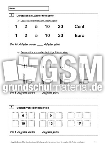 Test Mathe Ende 1. Klasse - Lernstandserhebung - Mathe ...