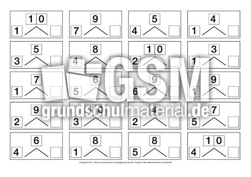 Zahlen-zerlegen-ZR-10-2 - Zahlen zerlegen - Anschauungsmaterial zum ...