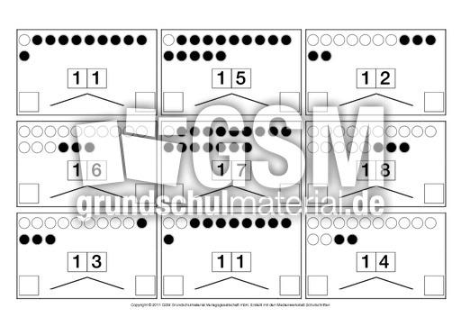 Zahlen-zerlegen-ZR-20 - Zahlen zerlegen - u00dcbungen im ZR bis 20 - Material fu00fcr Fu00f6rderklassen ...