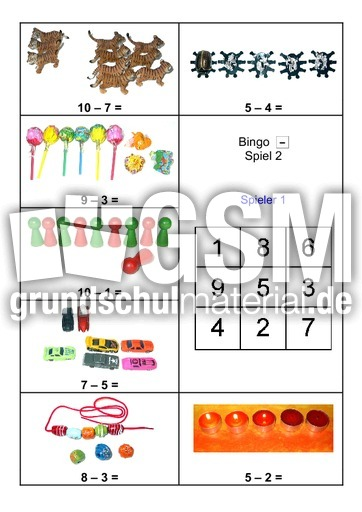 Related Pictures math bingo addition and subtraction