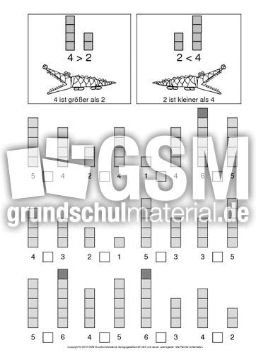 AB-gru00f6u00dfer-als-kleiner-als-2 - AB-kleiner-gru00f6u00dfer - kleiner-gru00f6u00dfer-gleich - Mathe Klasse 1 ...