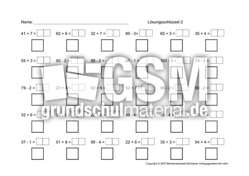 1 ab add sub oz addition subtraktion abs mit l sungsschl ssel arbeitsbl tter mathe. Black Bedroom Furniture Sets. Home Design Ideas