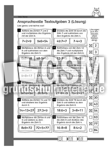 Anspruchsvolle Textaufgaben 3 - Mathematische Begriffe ...