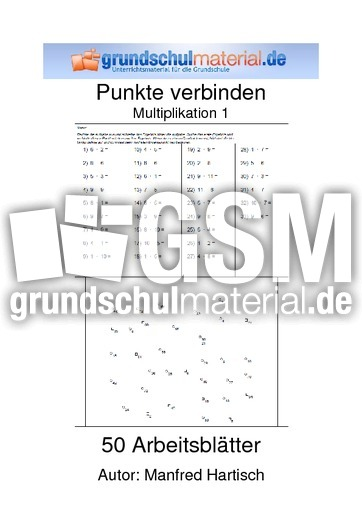 Punkte verbinden Multiplikation 1 - Multiplikation - Punkte ...