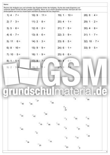 Unique Multiplikation Drill Arbeitsblatt Composition - Mathe ...