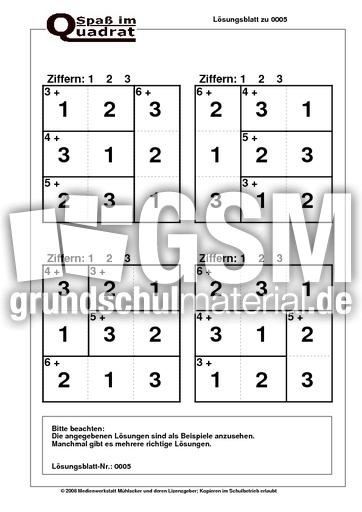 Rechenquadrat Plusaufgaben (123) - Rechenquadrate plus - mal ...