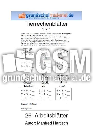 Tierrechenblätter Multiplikation - Tierrechenblätter ...