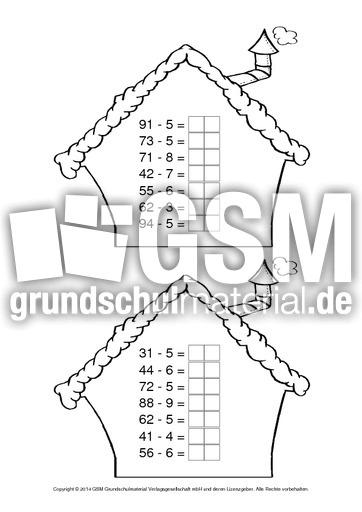 Ziemlich 2Klasse In Mathe Arbeitsblatt Subtraktion Mit Umgruppierung ...