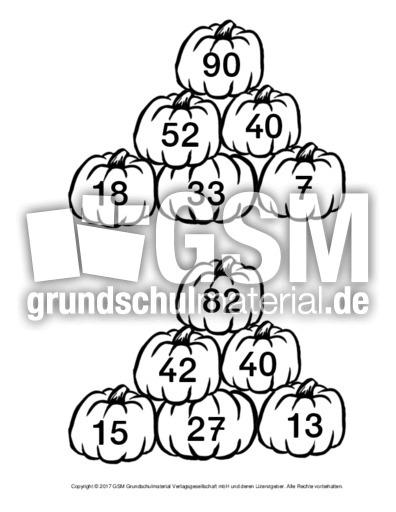 Kürbis-Zahlenmauer-K2-5 - Zahlenmauer-Kürbis - Zahlenmauer ...