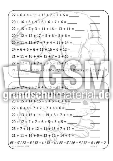 ZE + ZE + E - Kettenaufgaben - Arbeitsblu00e4tter - Mathe Klasse 2 - Grundschulmaterial.de