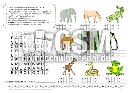 arbeitsblatt vorschule 187 mathe grundrechenarten 252bungen